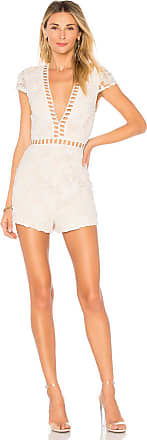 Superdown Simone Lace Romper in White