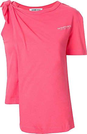 Ground-Zero Camiseta com detalhe de nó - Rosa