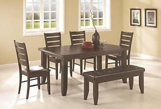 Coaster Fine Furniture Coaster Home Furnishings Dalila 6-Piece Rectangular Table Dining Set Cappuccino and Black