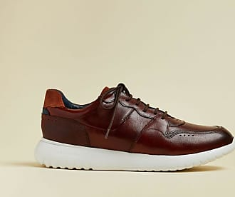 Ted Baker Leather Trainers in Tan CALIIR, Mens Accessories