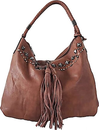 Its! BOLSA HOBO APLIQUE METAL CARAMELO