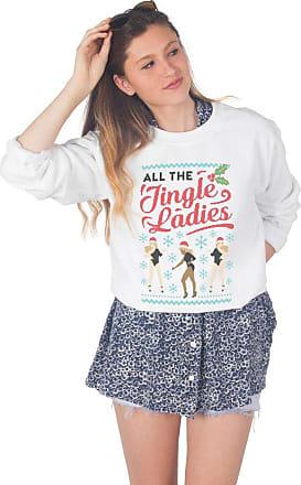 Sanfran Clothing Sanfran - All The Jingle Ladies Christmas Top Fashion Xmas Dancing Single Jumper Sweater - Medium/White