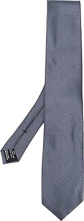Tom Ford Gravata de seda xadrez - Cinza