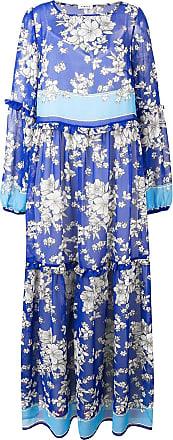 P.A.R.O.S.H. floral print tiered maxi dress - Blue