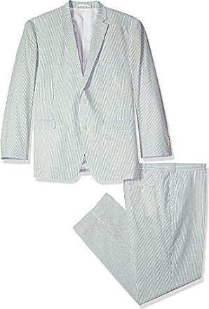 U.S.Polo Association Mens Big and Tall Cotton Suit, Green, 54 Long