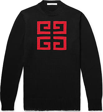 Givenchy Slim-fit Logo-intarsia Cotton Sweater - Black