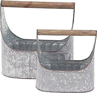 UMA Enterprises Inc. Deco 79 98468 Basket, Gray, Brown