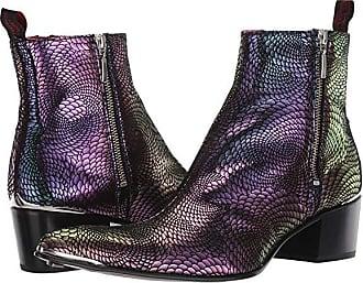 1266070e2a13f Jeffery West Sylvian Double Metal Zip Boot (Black/Purple) Mens Shoes