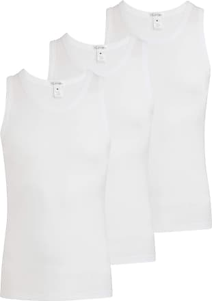 Jockey Mens Classic 2100 100% Cotton White Vest (3 Pack) (White/S)