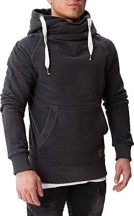 Yazubi Mens Hoody Hooded Sweatshirt Leo Soft Hoodie Sports, Grey (Phantom 194205), M