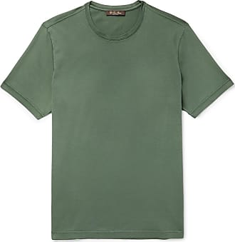 Loro Piana Smithtown Cotton-jersey T-shirt - Green