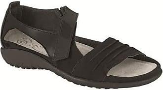 Naot Naot Footwear Womens Papaki, Black Patent Leather/Black Velvet Nubuck, 37 EU/6-6.5 M US