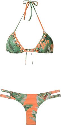 Amir Slama Triangel-Bikini - Grün