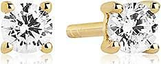 Sif Jakobs Jewellery Earrings Princess Piccolo - 18k gold plated with white zirconia