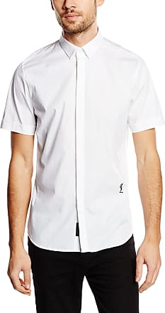 Religion Mens League Short Sleeve Casual Shirt, White, X-Large