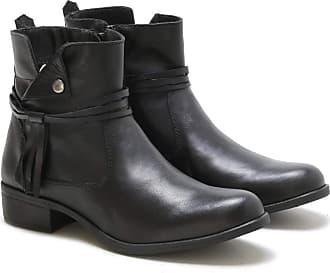 Di Lopes Shoes Bota Feminina 100% Couro (39, Preto)