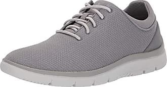 Clarks Mens Tunsil Ace Sneaker Grey Textile 115 M US