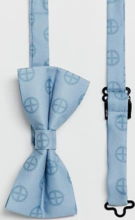 Religion wedding printed sateen bow tie in pale blue