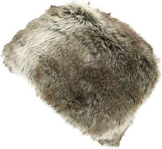 Hawkins Ladies 2-Tone Brown Faux Fur Pill Box Hat - 57cm
