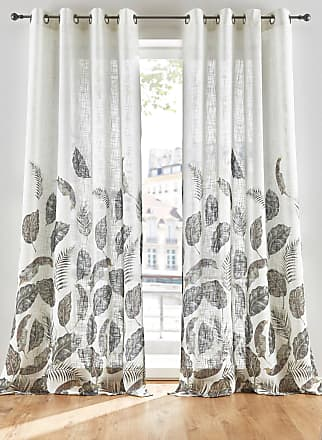 Bonprix Vorhang mit Blätter Druck (1er Pack) weiß, bonprix
