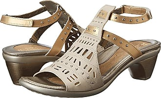 3c5092947291 Naot Vogue (Linen Leather Gold Sheen Leather) Womens Sandals