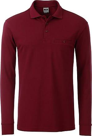 2Store24 Mens Workwear Polo Pocket Longsleeve in Wine Size: 3XL