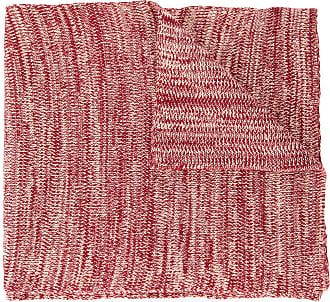 0711 elongated knitted scarf - Red