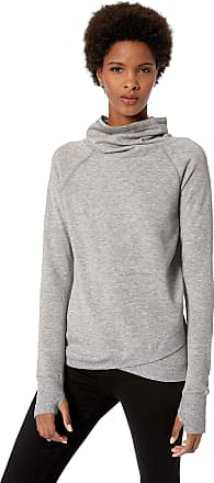 Jockey Womens R&r Cowl Neck Sweatshirt, Light Heathered Grey-00502, 3X