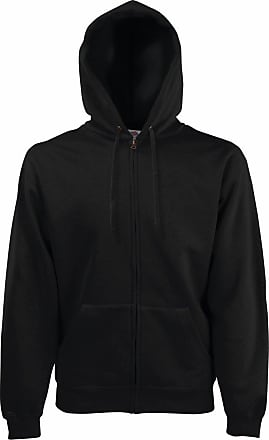 Fruit Of The Loom Fruit Of The Loom Zip Through Hooded Sweatshirt - Black - size L