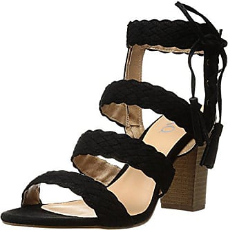 xoxo Womens Binnie Heeled Sandal, Black, 6 M US