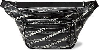 Balenciaga Explorer Logo-print Leather Belt Bag - Black