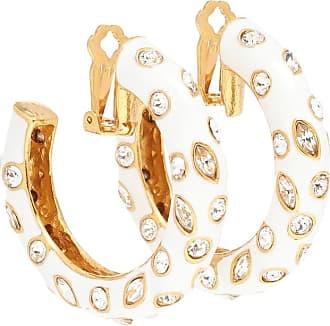 Oscar De La Renta Embellished clip-on hoop earrings