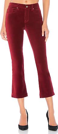 Velvet Adriana Velveteen High Rise Crop Pant in Red