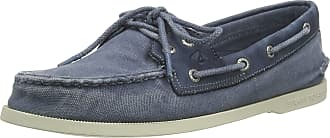 Sperry Top-Sider Sperry Mens A/O 2-Eye Textile Boat Shoe, Navy