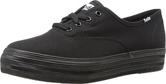 Keds Womens TRIPLE Sneaker, Black/Black, 6.5 UK