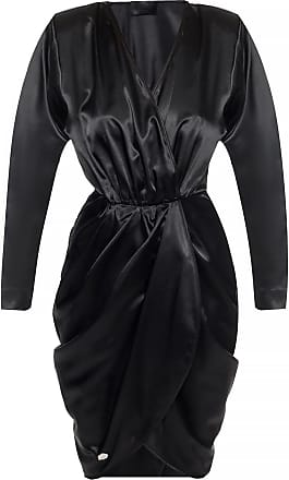Philipp Plein Dress With Gathers Womens Black