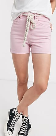 Wrangler Mom shorts rosa con stemma