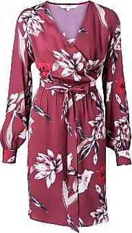 YaYa Wickelkleid - Roter Blumendruck - Size 34 | viscose | burgundy - Burgundy