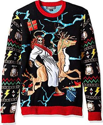 Blizzard Bay Mens Wayward Son Ugly Christmas Sweater, black, XX-Large
