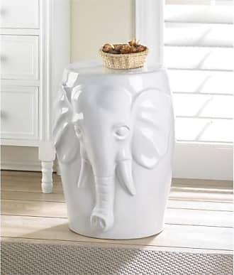 Zingz & Thingz Zingz and Thingz Elephant Ceramic Decorative Stool
