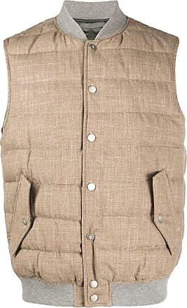 Eleventy sleeveless puffer vest - Brown