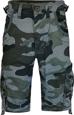 Crosshatch Cargo Shorts Ryehill - Black Camo - 32 Waist