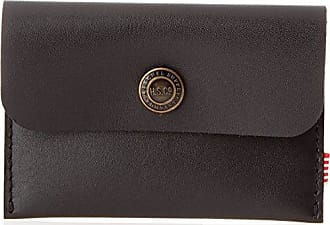 Herschel Supply Co. Mens Jacks Leather Wallet, black, One Size