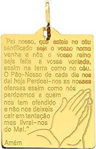 Prado Joias Pingente Em Ouro 18k Placa Pai Nosso
