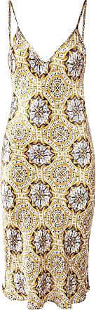 We are Leone Slip dress com estampa - Dourado