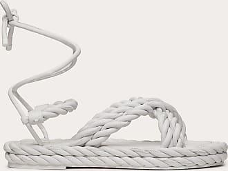Valentino Garavani Valentino Garavani Sandalo The Rope In Nappa Donna Bianco Ottico 100% Pelle Di Agnello 37