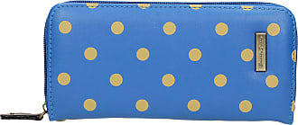 Swankyswans Bella Polka Dot Long Zip around Wallet Blue Beige Dot