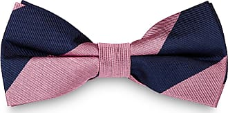 TND Basics Papillon rosa e blu navy in seta con fantasia a righe c137e0846e4a