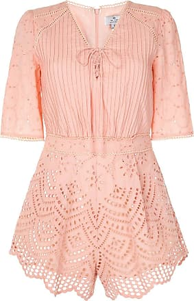 We Are Kindred Lua broderie anglaise playsuit - PINK