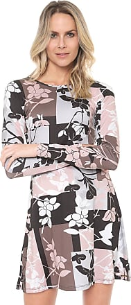 Dimy Vestido dimy Curto Floral Rosa/Preto
